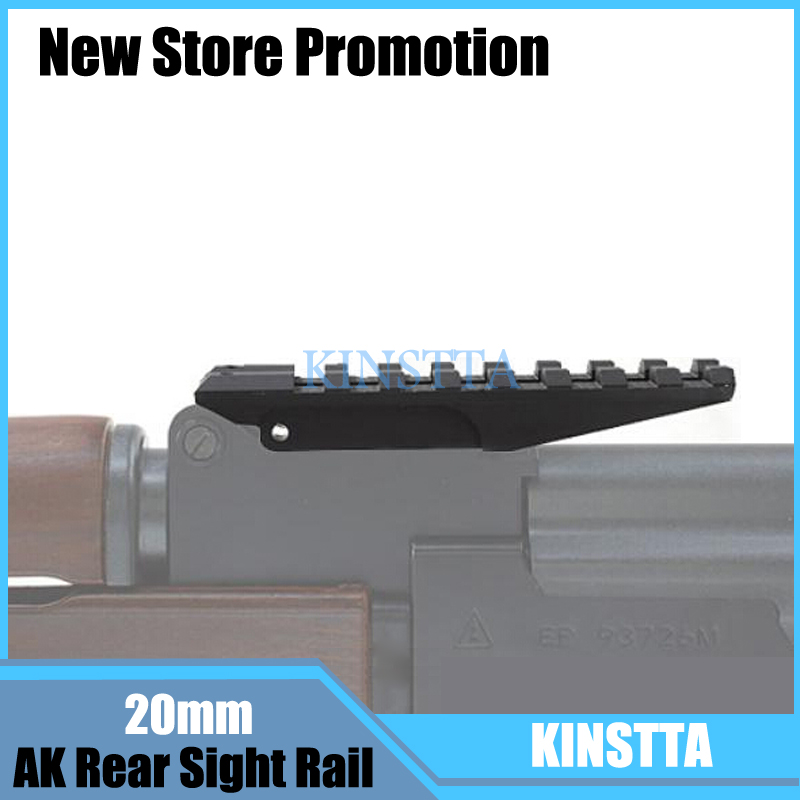 2019 New Style Outdoor Tactical Picatinny Rear Weaver 20mm Rail Mount For Ak Series Airsoft Electric Gun Ak 47 Sight Rail Hunting Scope Mount Volume Large Scope Mounts & Accessories Hunting