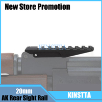 Tactical Picatinny Rail 20mm Weaver AK Rear Sight Fit AK Series Airsoft Gun Rifle For Hunting