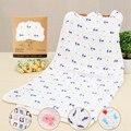 Bebê Muslin Swaddles 90*90 cm Seersckuer 6 camadas 100% Algodão Cobertores Toalha de Banho Do Bebê Recém-nascido Macio Segurar Wraps com Caixa de Exposição