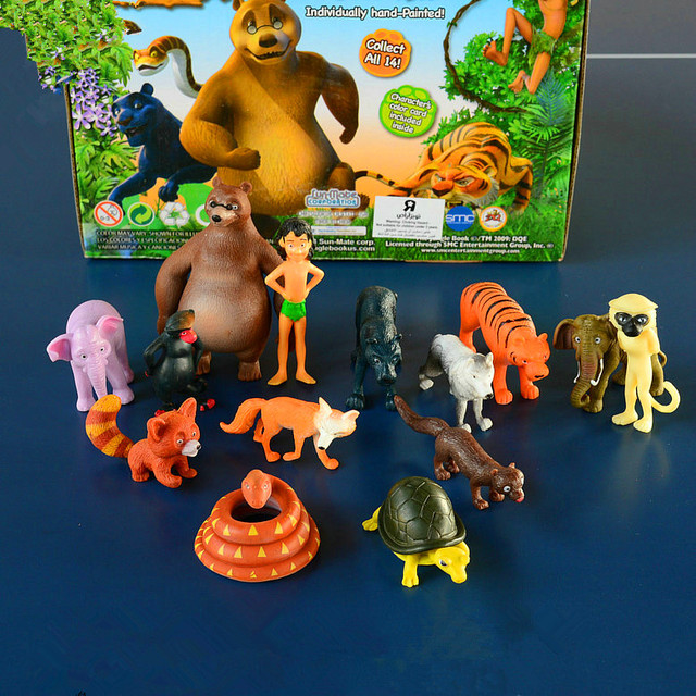 14 PCS Da Disney New Kids Toy Animal O Livro Da Selva Boneca Crianças Presentes de Aniversário Personalizado Toy Figuras Anime Brinquedos para crianças