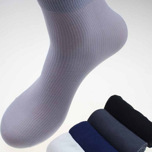 HEALMEYOU High Quality Casual Men s Business Socks For Men Thin Elastic Solid Color striped meias