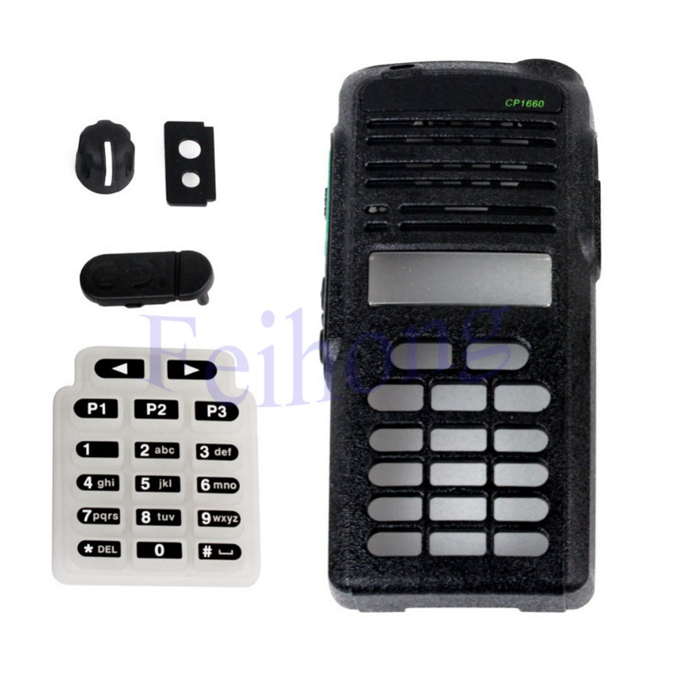 Black Radio Service Parts Case Refurb Kit For Motorola CP1660   WalkieTalkiewalkie Talkie