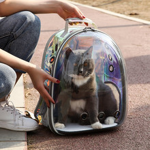 Pet Products Pet Clear Carrier Backpack Adjustable Transparent Pet Cat Dog Backpack Carrier Travel Bag for Small Animals AprT4