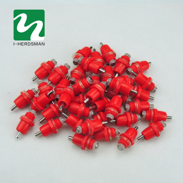 100pcs High Quality Spring Type Chicken Red Nipples Drinking Chicken With Automatic Water Dispenser Chicken Mouth Drinking Water