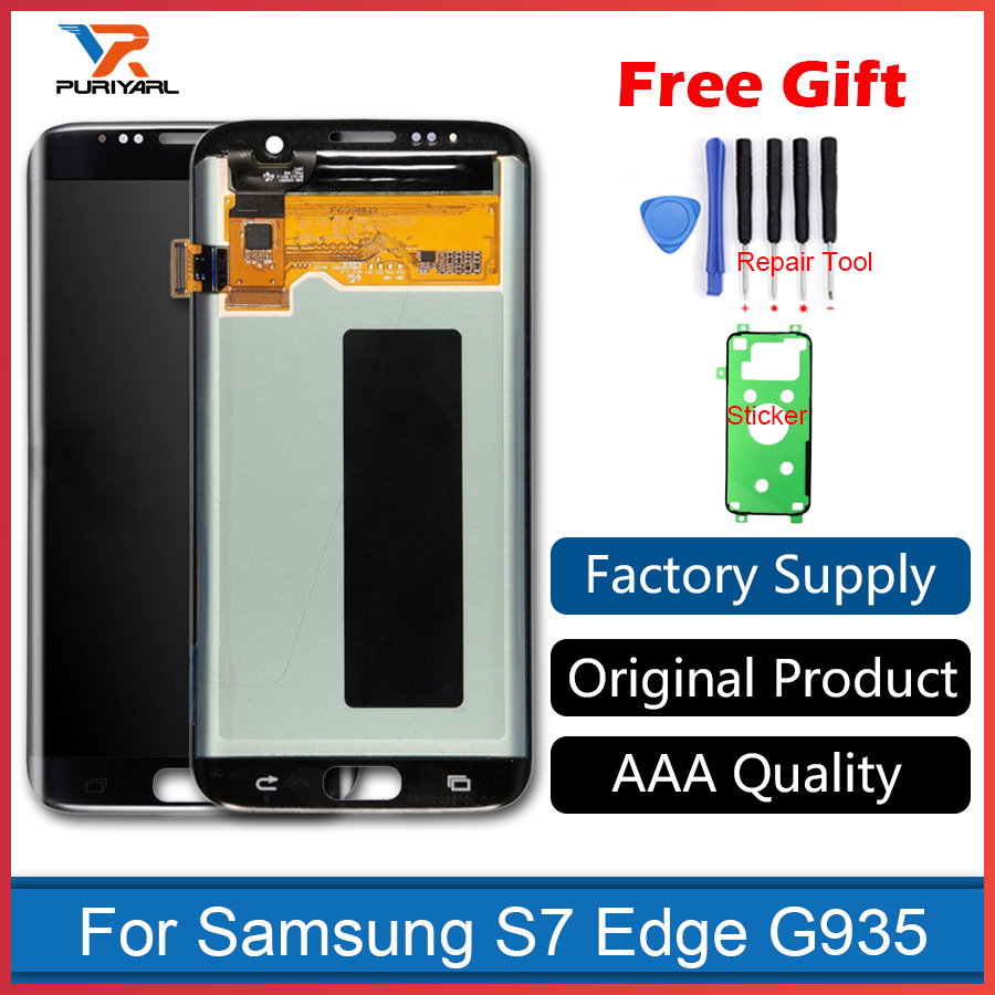 AAA Quality Original Super AMOLED Pantalla Screen For Samsung Galaxy S7 Edge LCD Display G935F G935FD Assembly Replacement