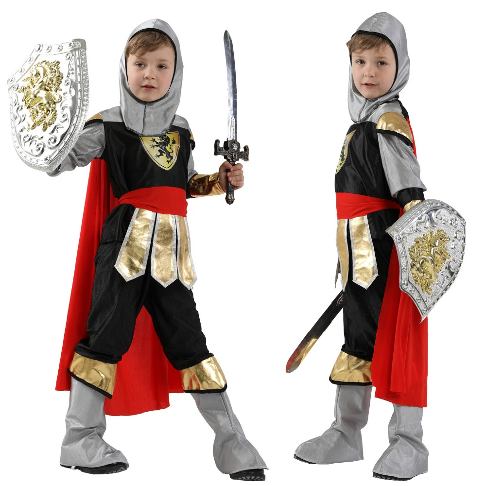 Medieval Armor for Kids Noble Knight Children/'s Halloween Costume