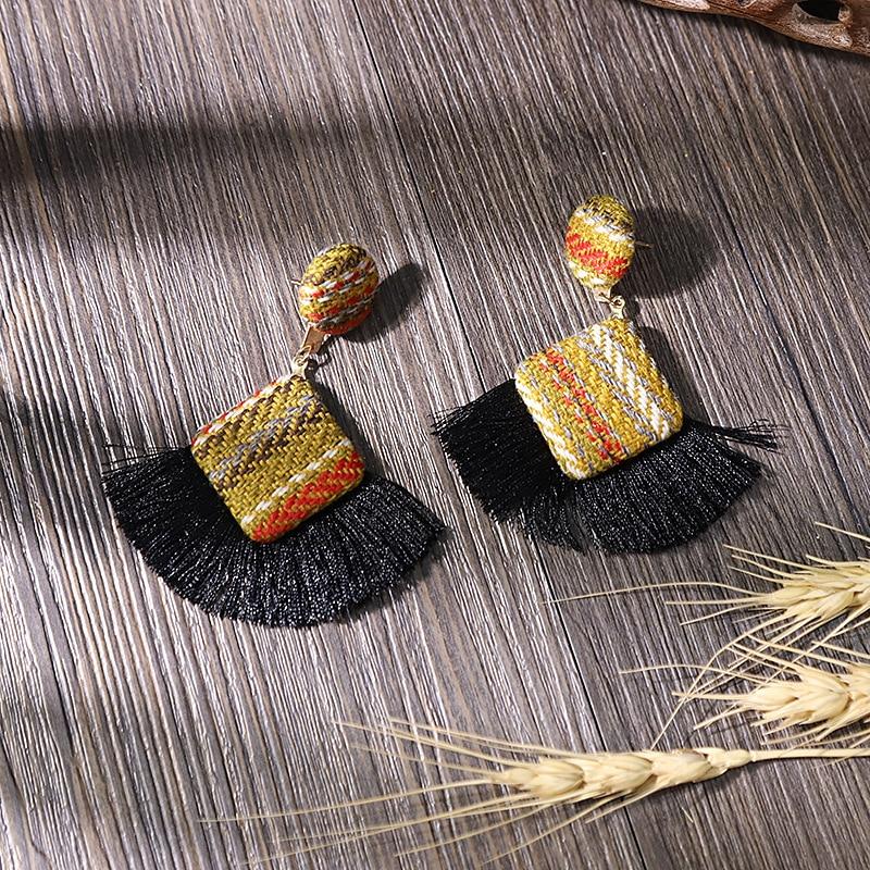New Arrival Fashion Tassel Earrings for Women 19 Statement Earrings Striped Long Fringe Earrings Girl Birthday Jewelry Gift 8