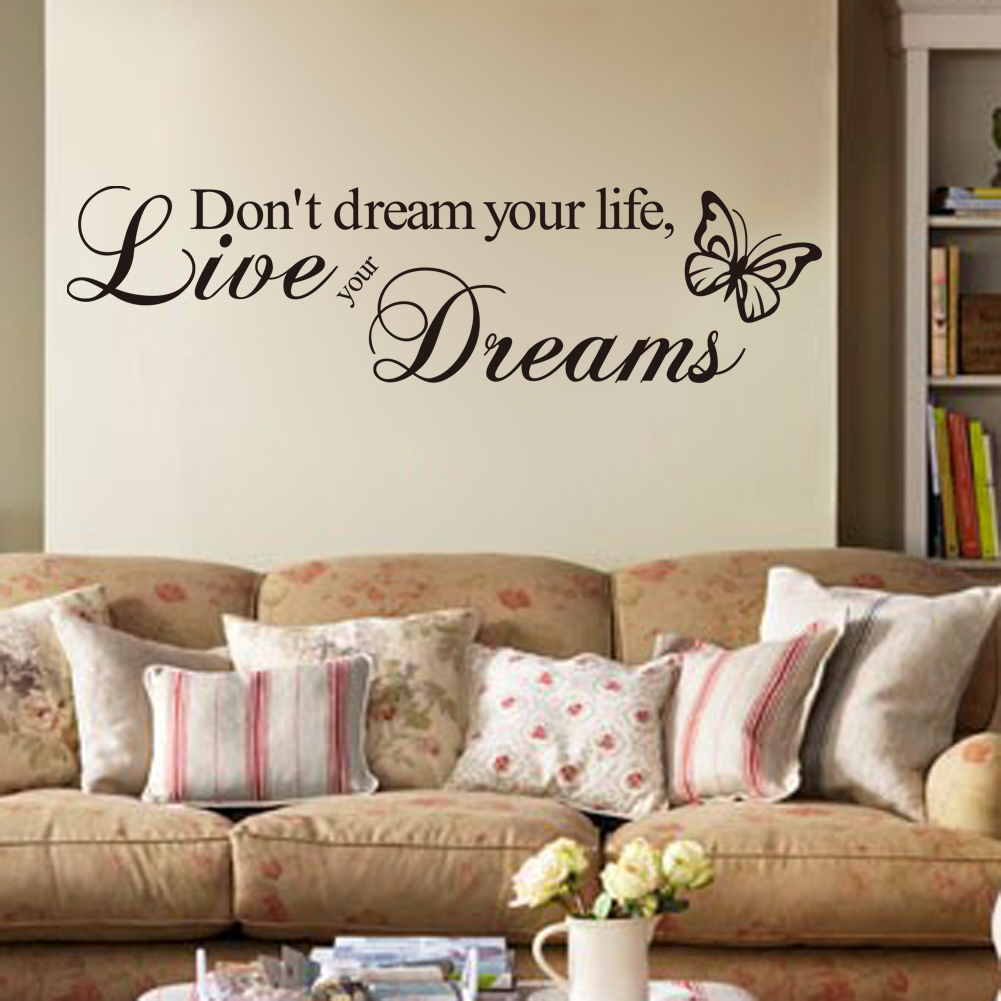 online get cheap wall murals stickers aliexpress com alibaba group new lovely removable don t dream your life butterf