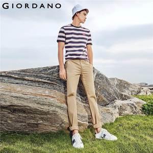 Image 5 - Giordano Men Pants Men Khaki Pantalon Homme Slim Pants Men Quality Trousers Men Cotton Business Casual Modern Pantalones Hombre