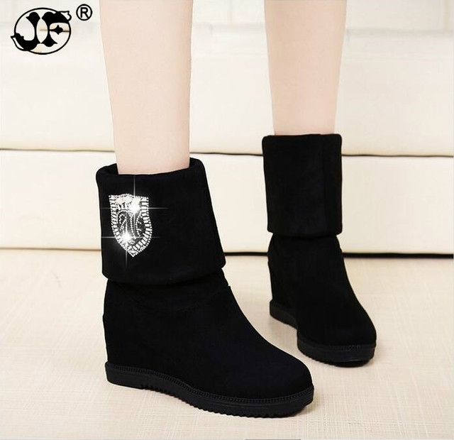 017ad5bf63757 women boots Hot sale winter wedges boots high heels casual snow boots  fashion snow botas shoes women Mujer zapatos 866