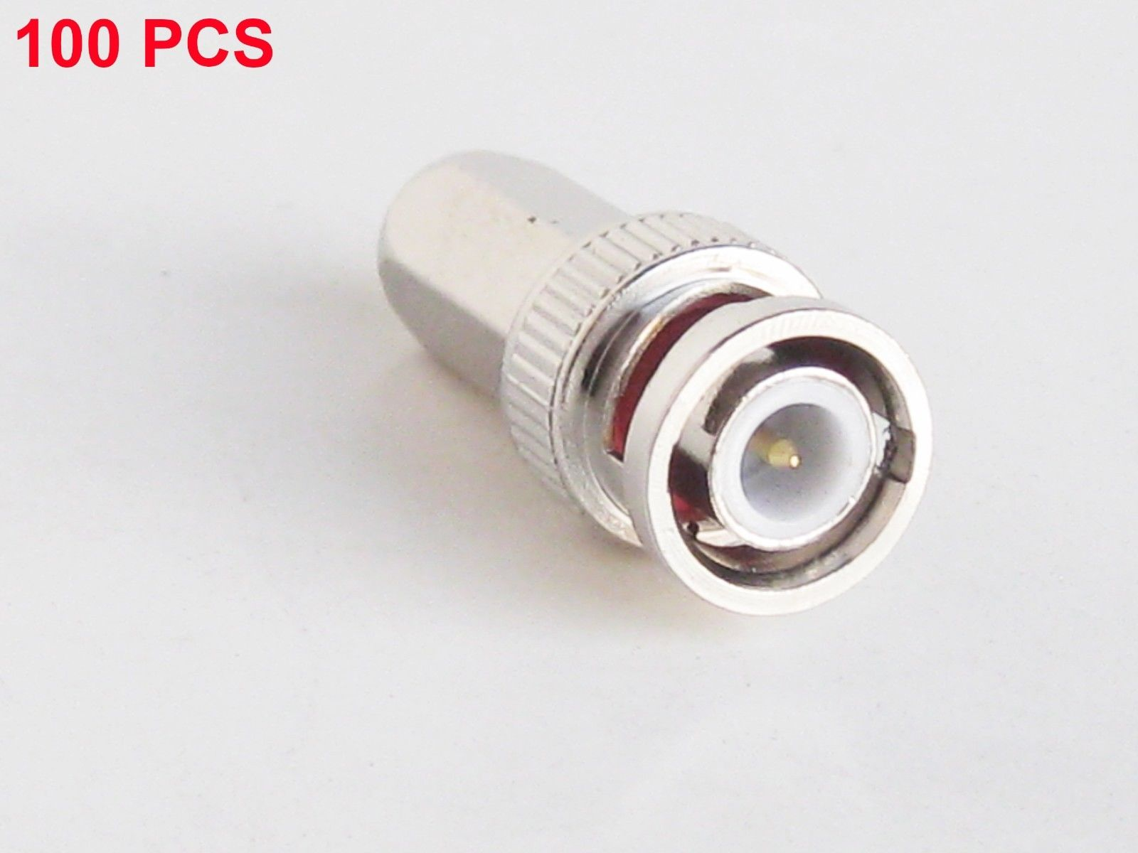 100Pcs Twist-on BNC Male RG59 Coaxial Connector Adapter For CCTV Security Camera