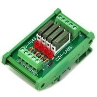 Slim DIN Rail Mount DC12V Source PNP 4 SPST NO 5A Power Relay Module PA1a 12V