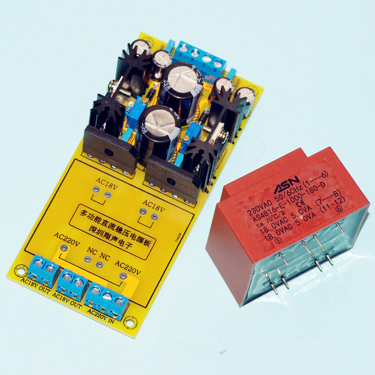 Assembled LT1083 power adjustable hifi power supply board Dual Output