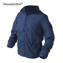 Mountainskin Для мужчин летние ультра-легкие куртки милитари быстросохнущая кожи пальто армия наружное дышащая верхняя одежда мужские брендовые LA684