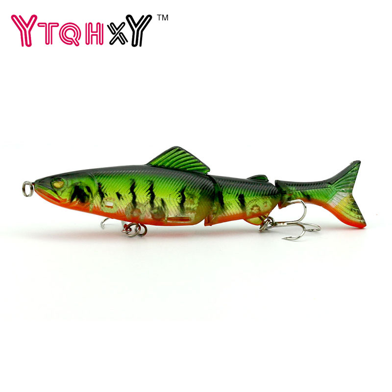 Swimbait Jointed Top Water Minnow Fishing Lures Hook Crankbait Bait Bass 3 Sections 12.5cm Fishing Accessories YE-56 wldslure 1pc 54g minnow sea fishing crankbait bass hard bait tuna lures wobbler trolling lure treble hook