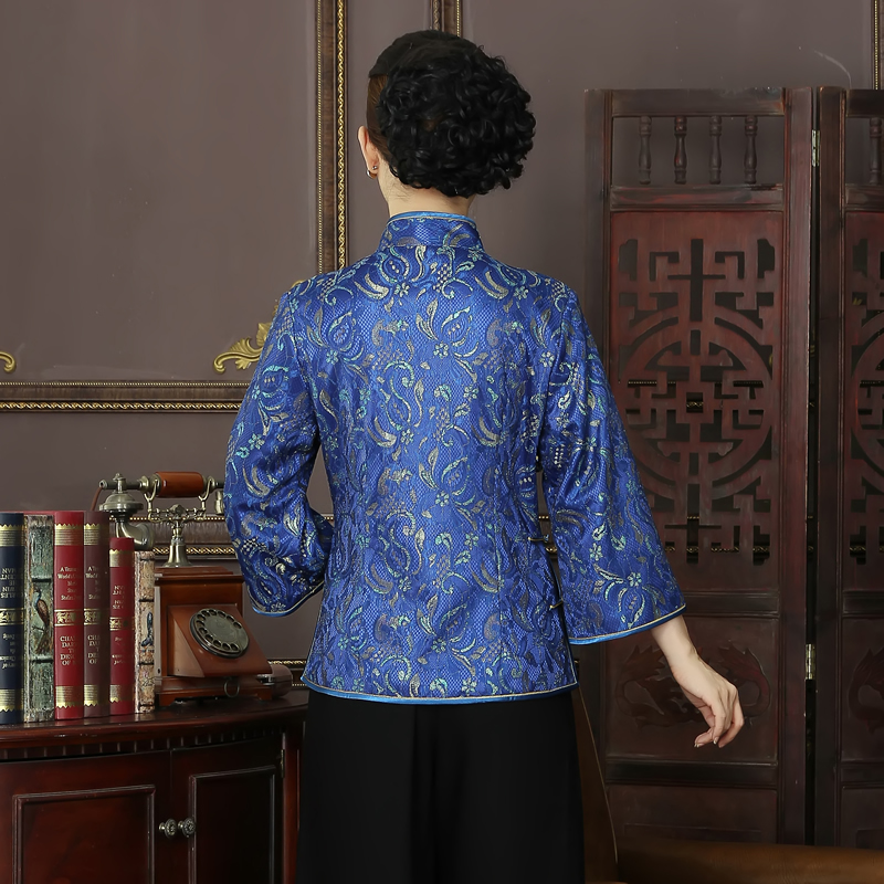 style Taille Manteau Tops La R09 Veste Xxl Tang Mince Costume Style Arrivée Nouvelle style 1 L Plus Chinois De Vestes Haute Xl Élégant Tradition 2 3 Xxxl Qualité xTwPSq6