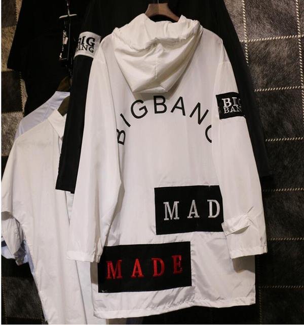 Frete grátis 2016 nova letras de blusão longo casaco de manga comprida