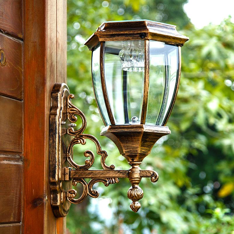 A1 Solar garden lights outdoor wall lamp wall lamp light sensing super bright lamp waterproof household solar lamp
