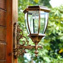 Luz Solar al aire libre luces de jardín al aire libre lámpara de pared lámpara de pared lámpara de detección de luz super brillante impermeable solar household FG209