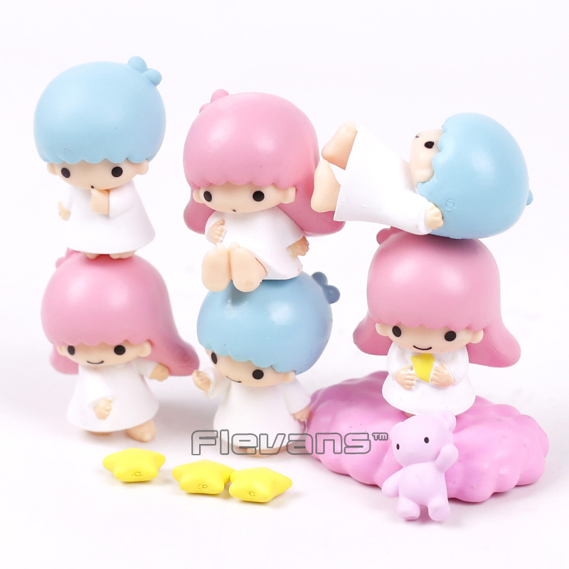 Cartoon Cute Little Twin Stars Mini PVC Action Figures Collectible Model Toys Gifts