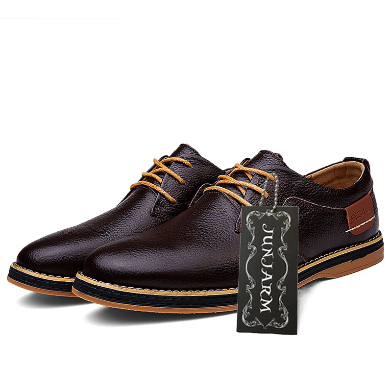 6abe0ad9f847 JUNJARM 100% Genuine Leather Men Dress Shoes Fashion Men Formal Shoes  Quality Men Oxfords Shoes Office Men Business Shoes-in Oxfords from Shoes  on ...
