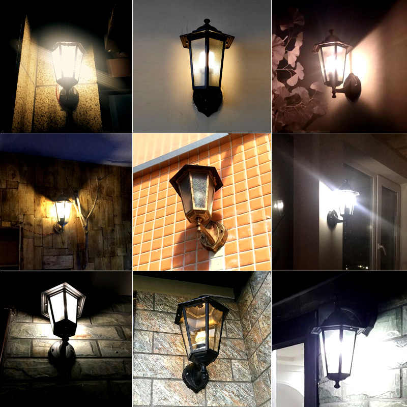 LukLoy открытый настенный светильник водонепроницаемый простой ретро-железо промышленной эры настенный светильник ресторан Rorch прохода дома двери стены коридора