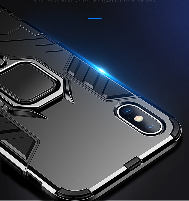 Luxury Armor Shockproof Kickstand Phone Case For iPhone XS MAX XR XS X 8 7 6S Plus 5S SE Ring Stand Holder Bracket Cover Funda (9)