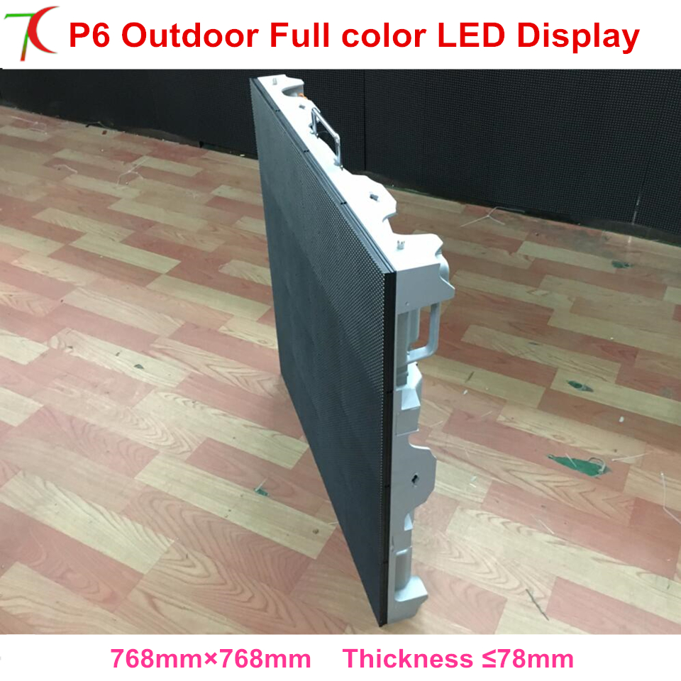 Outdoor P6  Led Matrix Smd Video Full Color Led Display  Rental Led Screen