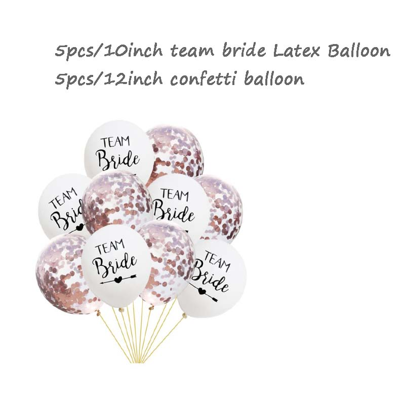 8Season 10pc Bachelorette Party Team Bride To Be Latex Balloon Just Married Wedding Photos Bridal Shower wedding supplies in Ballons Accessories from Home Garden