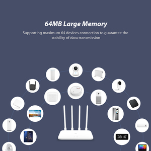 Image 5 - Роутер Xiaomi Mi 4A Gigabit Edition 100M 1000M, 2,4 ГГц 5 ГГц Wi Fi ПЗУ 16 МБ DDR3 64 МБ 128 МБ, 4 антенны с высоким усилением, дистанционное управление через приложение