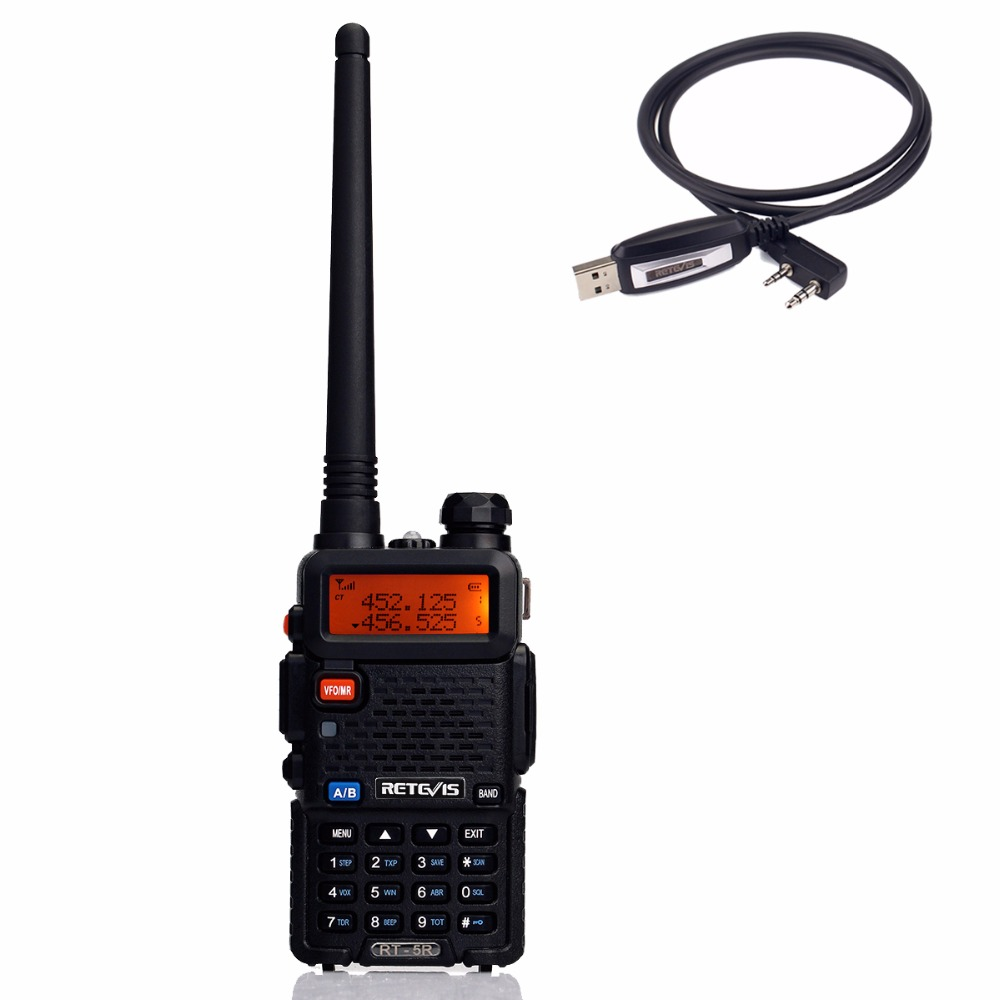 imágenes para Retevis RT 5R Walkie Talkie 128CH UHF + VHF HF Transceptor de Radio Portátil de Radio Handy Comunicador A7105A-C9018