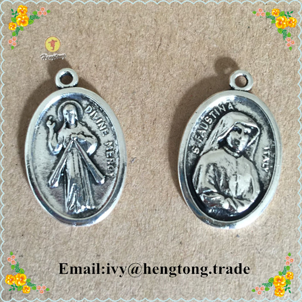 Antique religious pendant charmreligious rosary pendant parts antique religious pendant charmreligious rosary pendant parts divine mercy pendant s faustina pendant charm in charms from jewelry accessories on aloadofball Gallery