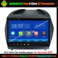 """10.2 """"Reproductor Multimedia Del Coche para Hyundai iX 35 Android 4.4 Verdadera de $ number Hilos, Ayuda WiFi 3G 1024*600 HD de Pantalla Táctil de La Capacitancia"""