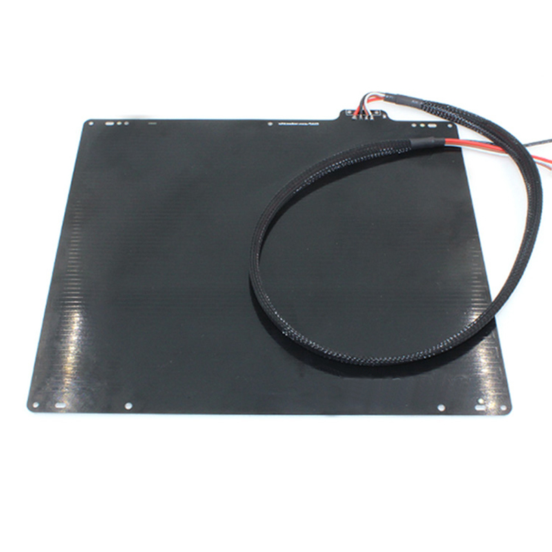 wholesale 3D printer UM2 special aluminum plate heat bed with PT100B resistance cable for Ultimaker2 free shipping free shipping 270x250x1 5mm abs special fixed plate fr4 epoxy boards porous pegboard for 3d printer very practical