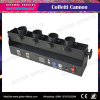 dmx/remote control 4 head shots stage confetti cannon launcher machine for party wedding