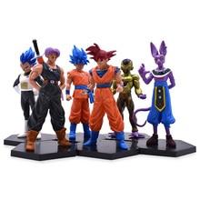6 styles Anime Dragon Ball Z Frieza Vegeta Son Goku Trunks Beerus PVC Action Figure Doll Model Toy Christmas Gift For Children