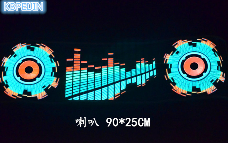 car styling neon light car LED music Rhythm sticker for Lexus rx350 rx gs is250 gs300 rx300 nx rx330 gx470 accessories 90*25cm