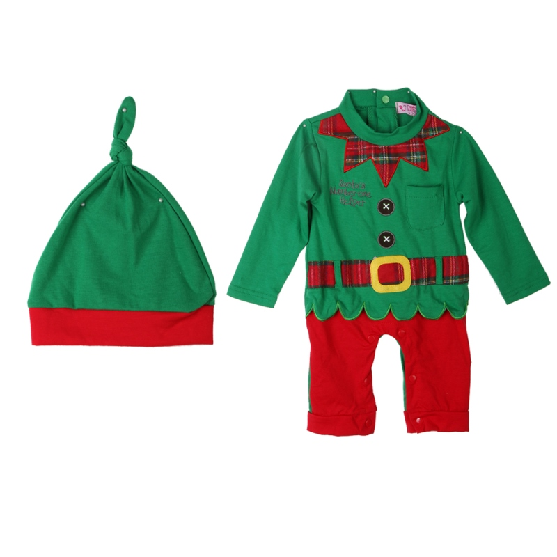 Baby Romper with Hat Boys Girls Lovely Kids  Long Sleeve Rompers Christmas Clothes Outfits  Casual Jumpsuit Clothing New 2017 newborn baby rompers baby clothing 100% cotton infant jumpsuit ropa bebe long sleeve girl boys rompers costumes baby romper