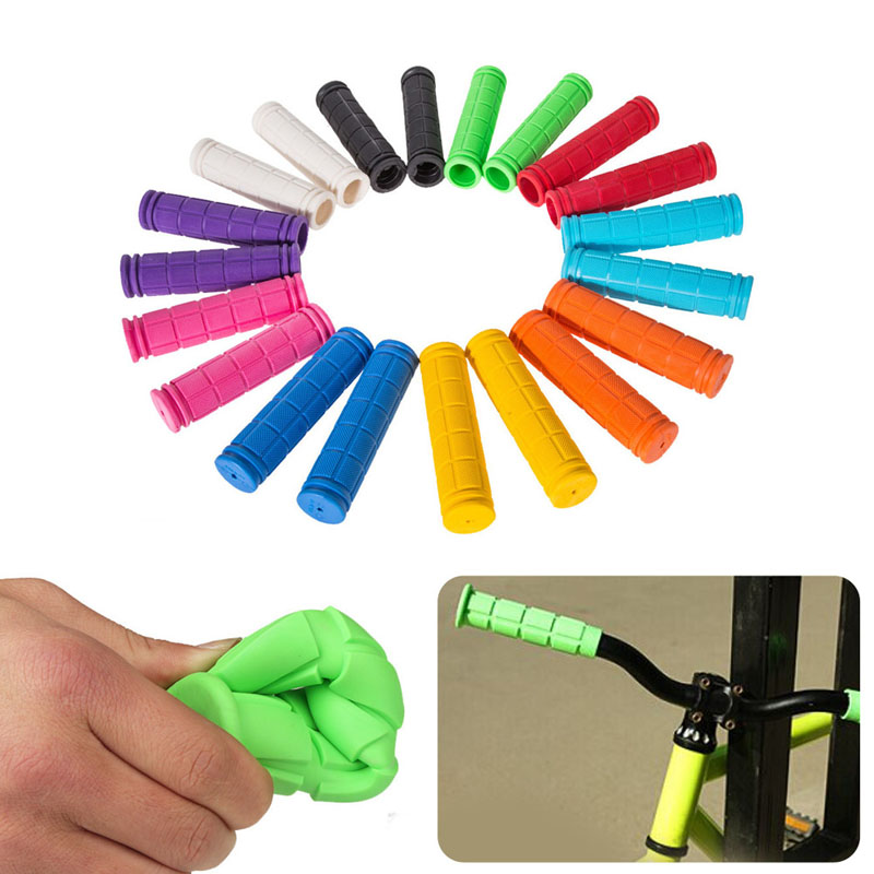 1 Pair Soft MTB Cycle Road Mountain Bicycle Scooter Bike Handle Bar Grips Hot