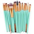 Mejor precio Nuevo Pinceles de Maquillaje Pro 15 unids/set Maquillaje Pinceles Set Powder Blush Fundación Sombra de ojos Cepillo Cosméticos Kit de Herramientas de Belleza