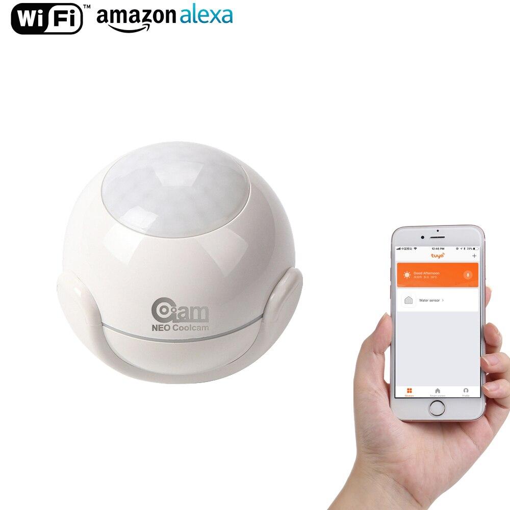 Coolcam Wifi Détecteur de Mouvement Alarme Détecteur de Mouvement PIR Dectector Pour Smart Home Automation et App Alertes de Notification, Sans Hub besoin
