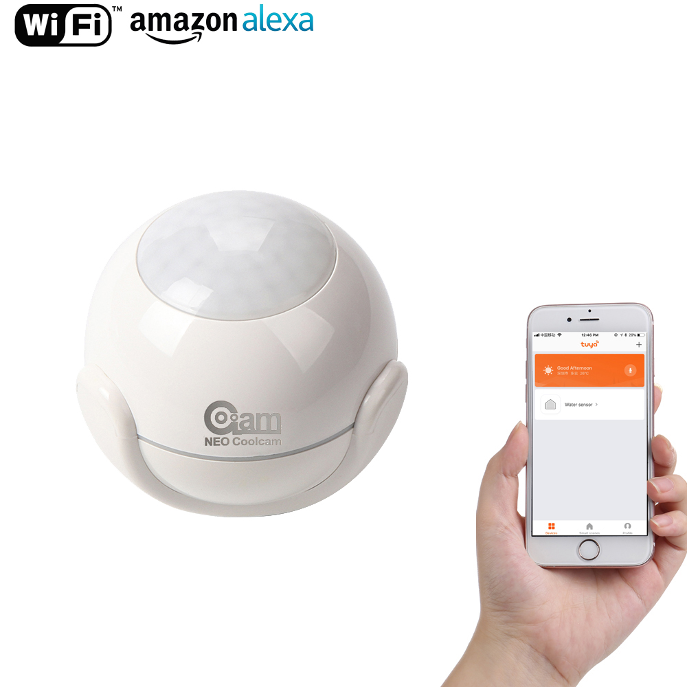 Coolcam Wifi Motion Sensor Alarm Detector PIR Motion Dectector For Smart Home Automation and App Notification Alerts,No Hub Need
