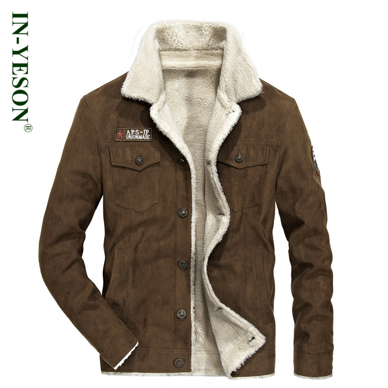 New Arrival IN-YESON Brand Parka Men Embroidery Casual Fleece Winter jacket men High Qua ...