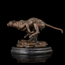 2014 Hot Best selling  bronze statue galloping leopard sculpture Lost Wax method brass statues High-end business gifts
