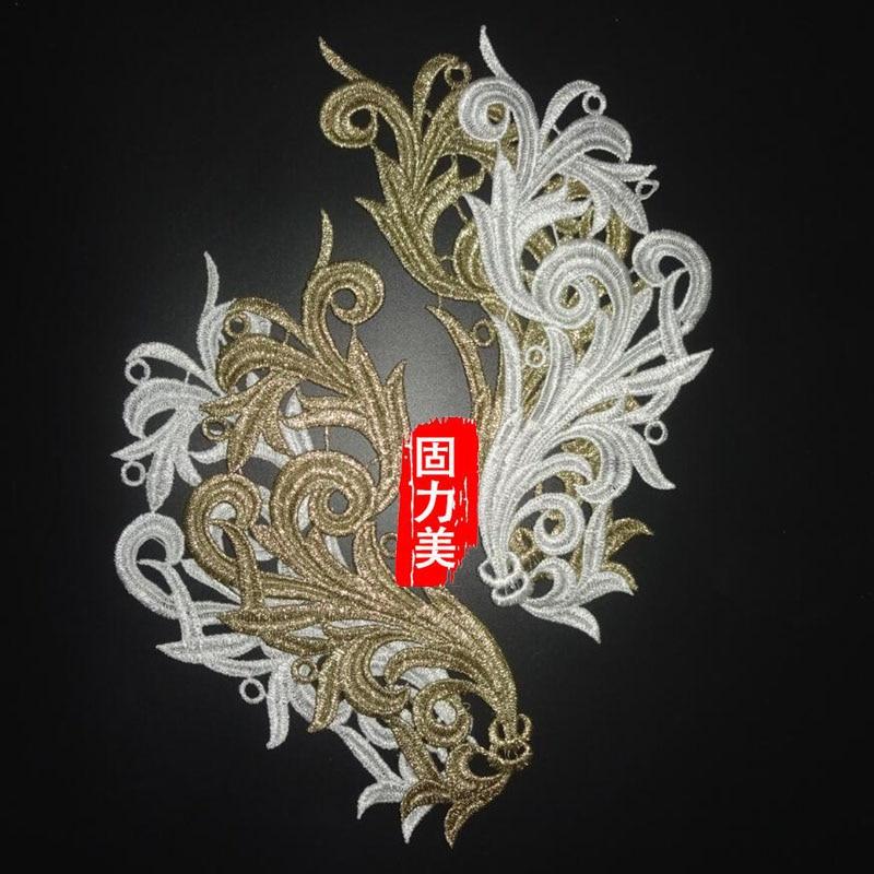 Unotrim 10 x 10 inches White Venice Embroidery Bodice Motif Applique by Piece