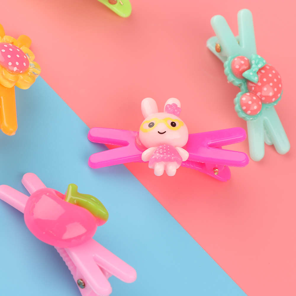 HTB1xPbURVXXXXXdaXXXq6xXFXXXE 12-Pieces Mix Colorful Fruit Flower Star Animal Fish Ribbon Heart Candy Hair Accessories For Girls