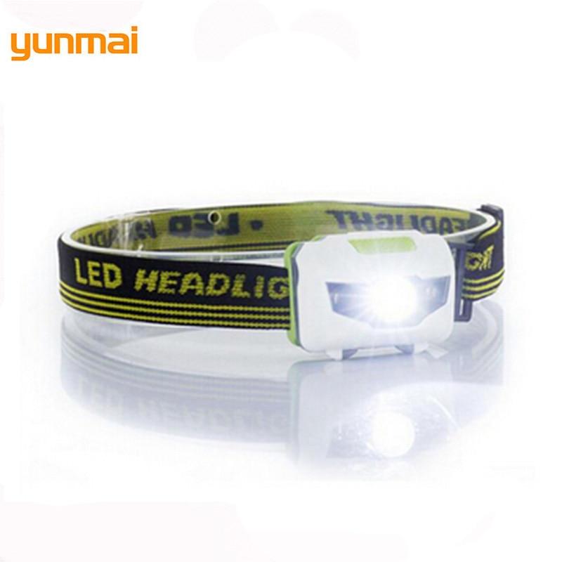 Mini Powerful LED Headlamp 4 Mode Headlamp Waterproof LED Headlight Head Flashlight White+red Light Head Lamp Torch Light 3*AAA