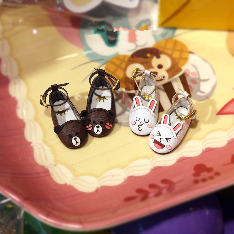 Free Shipping,Doll Accessories Handmade cartoon single shoes for blythe JB MMK Azone Lati doll gifts toys handmade leopard doll shoes doll accessories for blythe licca azone dal momoko lati jb toys girl play house free shipping