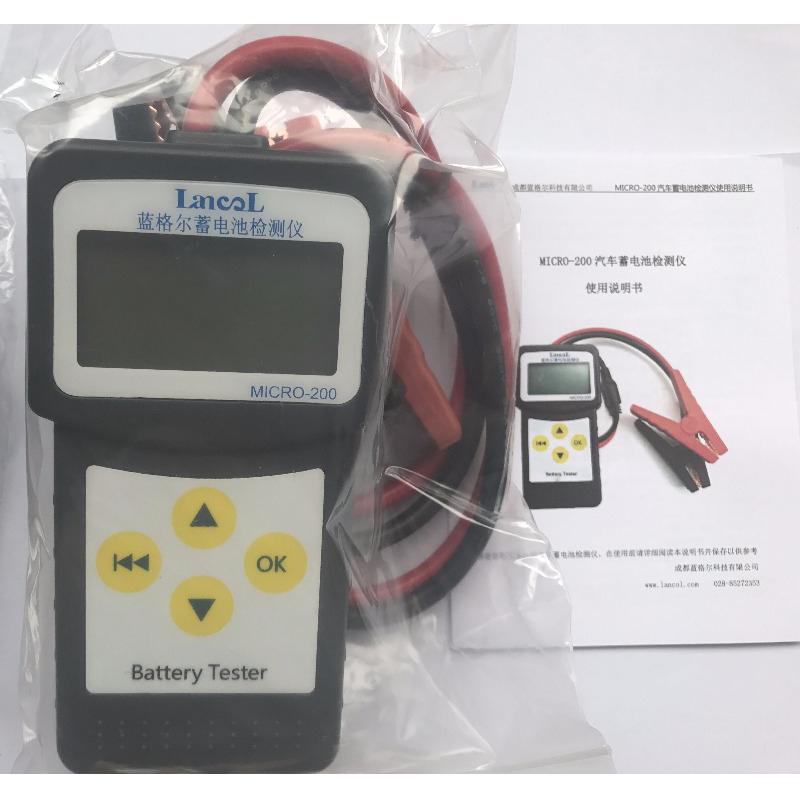 Lancol Micro <font><b>200</b></font> Professional Diagnostic Tool 12v cca Battery System Tester USB For PrintingCar Battery Tester Vehicle Analyzer image