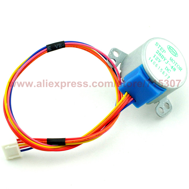 все цены на PHISCALE 1piece Stepper motor 12V 4-phase 5-wires motor for ULN2003 Driver Board